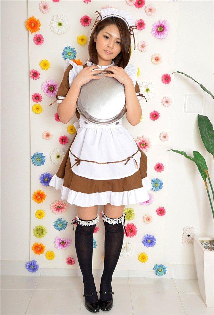 【画像】メイド姿の秋本翼 白パンティのぷっくりしたクロッチ丸出しwwwwww0002manshu