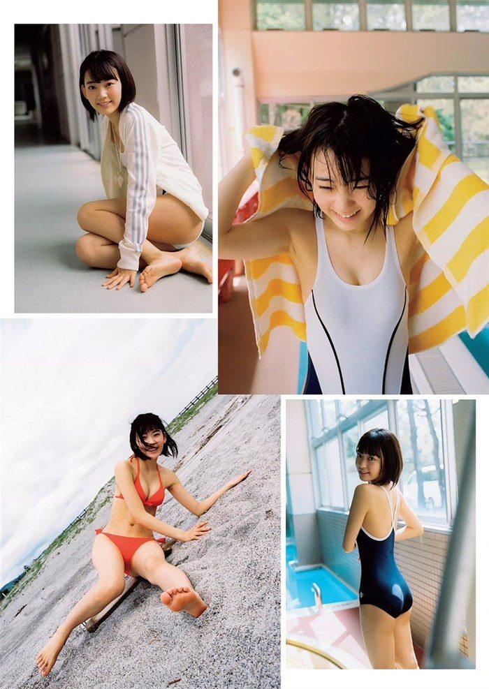 【画像】HKT宮脇咲良のガリ巨乳が堪能できる週プレ水着グラビア!!0005manshu