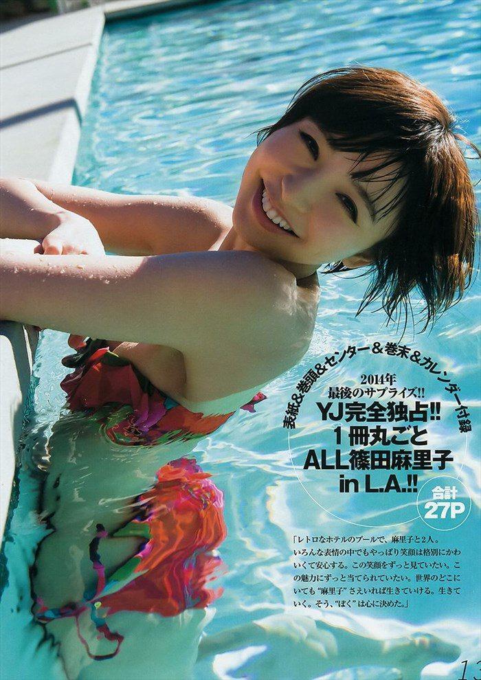 【画像】篠田麻里子さん 全盛期の水着グラビアがエロ過ぎたと話題に!完全にokazuグラビア0021manshu