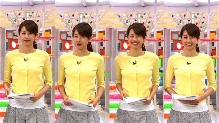 【画像】加藤綾子のEカップ着衣おっぱいが綺麗なお椀型でそっと手の平でタッチしたくなるwwww0027manshu