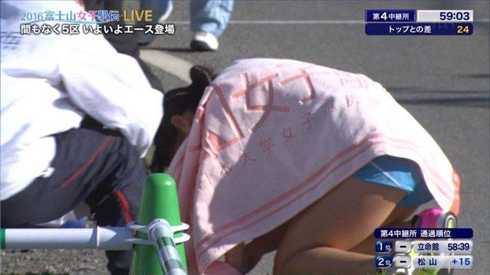 【エロ目線】富士山女子駅伝で女子大生が四つん這いで腰振ってる所を生中継してるぞwww(GIFあり)