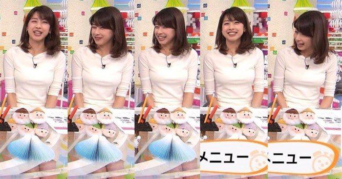 【画像】加藤綾子のEカップ着衣おっぱいが綺麗なお椀型でそっと手の平でタッチしたくなるwwww0031manshu
