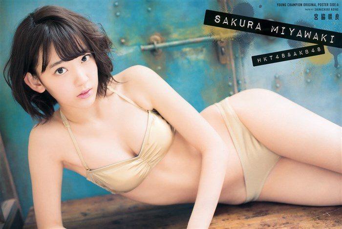 【画像】HKT宮脇咲良ちゃんの全裸に見えるグラビア!股間が気になり過ぎる!0007manshu